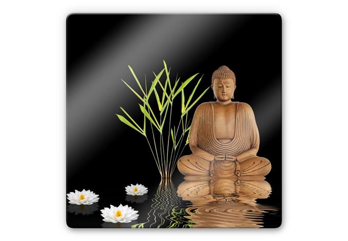 Glasbild zen buddha ruhe und entspannung f r die wand for Zen einrichtungsstil