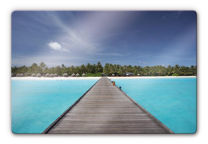 Glasbild karibik f r ruhige momente und pure entspannung - Glasbild badezimmer ...