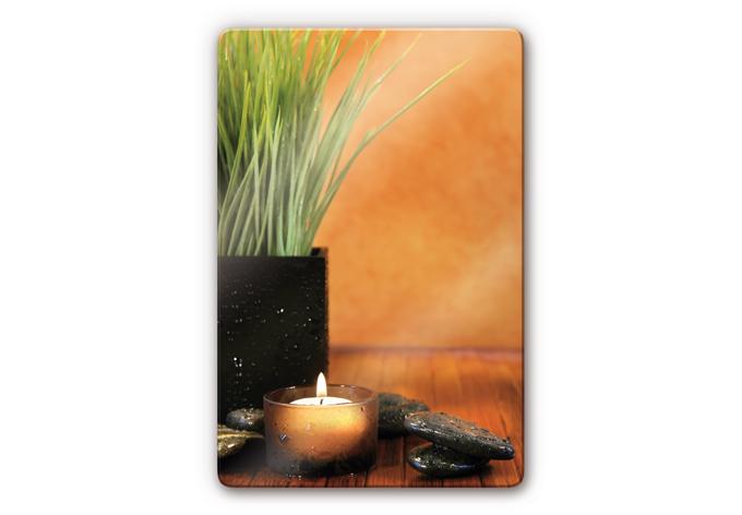 glasbild wellness spa feeling wandbild auf glas wall. Black Bedroom Furniture Sets. Home Design Ideas