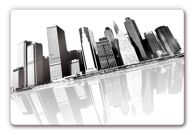 Glasbild Cityscape NY