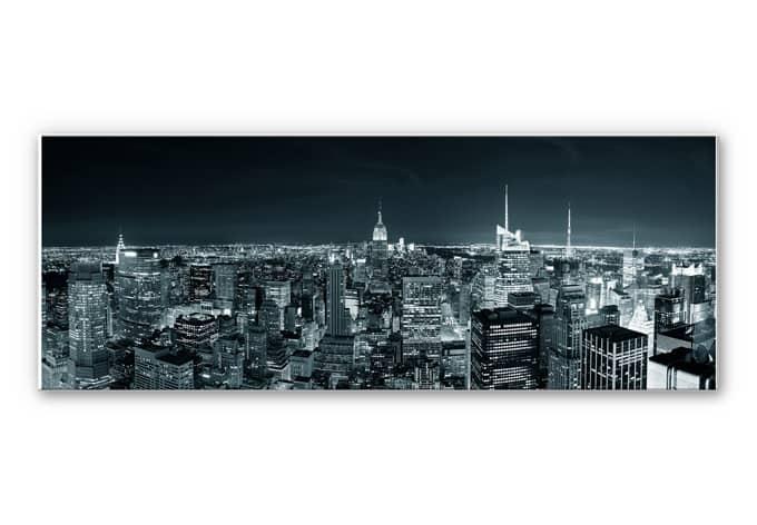 hartschaum wandbild new york at night 02 wall. Black Bedroom Furniture Sets. Home Design Ideas