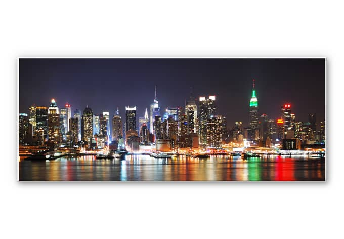 Hartschaum wandbild new york skyline panorama wall - Wandbild new york ...