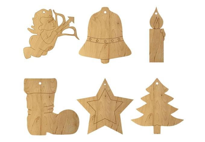 baumschmuck set weihnachtliche holzdeko f r den weihnachtsbaum wall. Black Bedroom Furniture Sets. Home Design Ideas