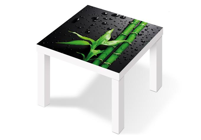m belfolie f r ikea lack bamboo over black wall. Black Bedroom Furniture Sets. Home Design Ideas