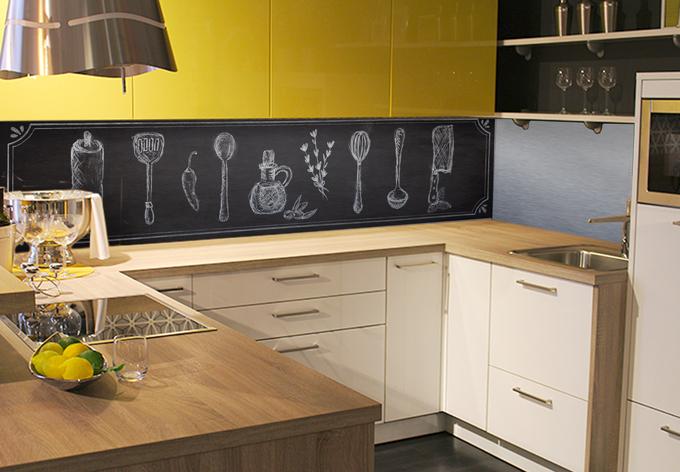 k chenr ckwand alu dibond silber rustic kitchen wall. Black Bedroom Furniture Sets. Home Design Ideas
