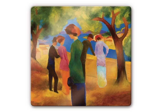 Art Wall Jr Green Jacket : Macke woman in a green wall art