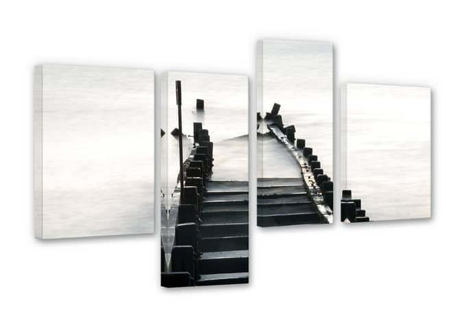 Way to nowhere Canvas print (4 parts)