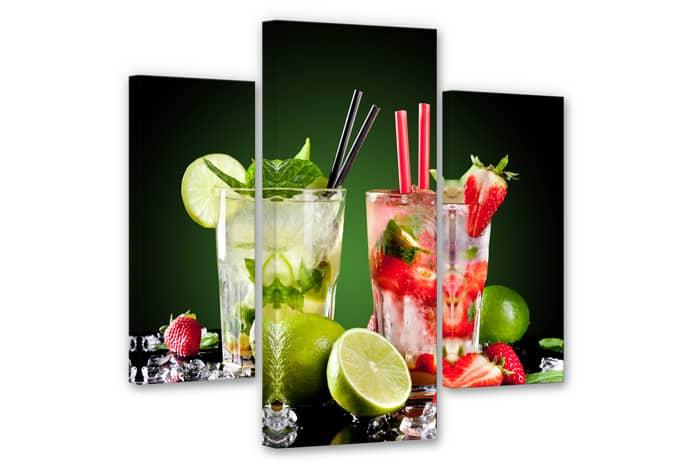 Cocktail Hour Canvas print (3 parts)