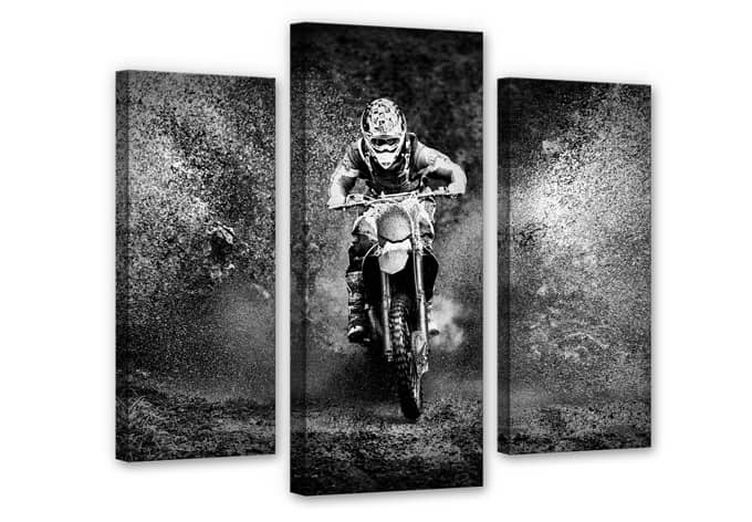 Paul GS - Dirty Hobby Canvas print (3 parts)
