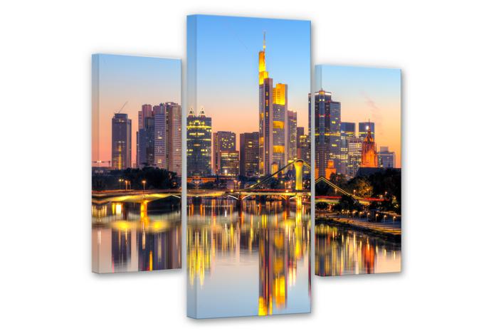 Frankfurt Lights (3 parts) Canvas print