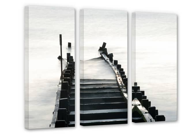 Way to nowhere (3 parts) Canvas print