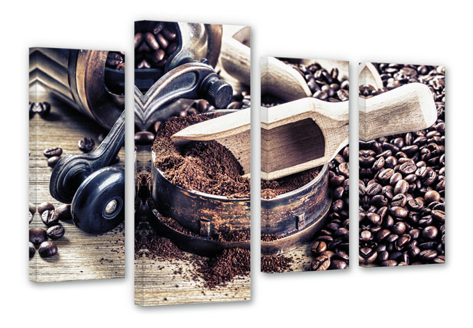 Smell of Coffee Canvas print (4 parts)