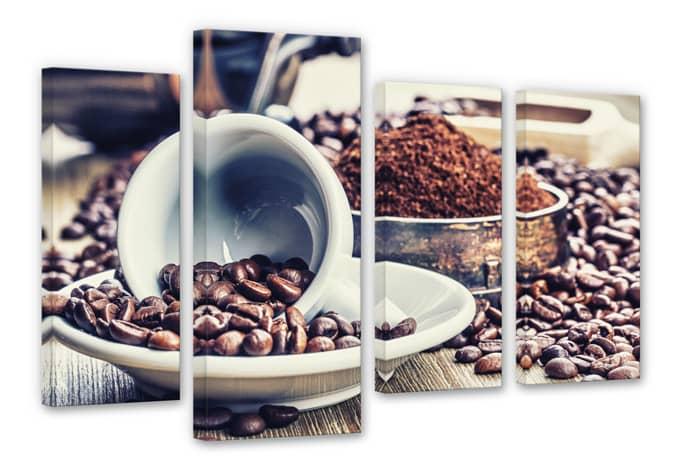 Coffee dream (4 parts) Canvas print