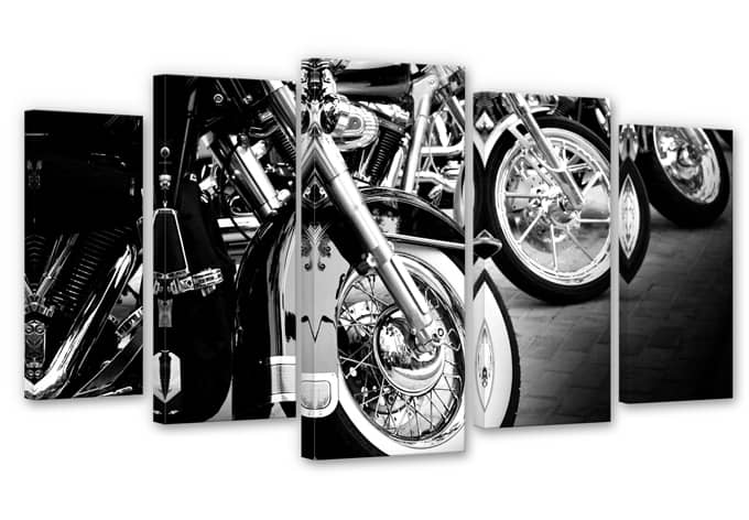 Motorcycle Wheels (5-parts) Canvas print