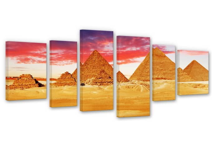 Pyramids of Gizeh Canvas print (6 parts)