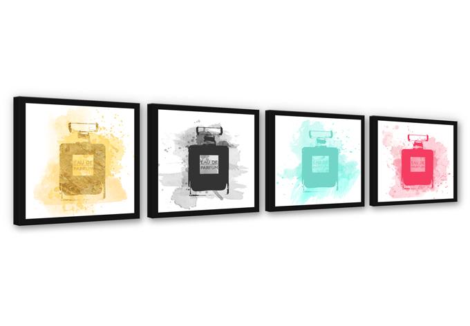 Perfume Water Colour Multicolored  (4-parts)