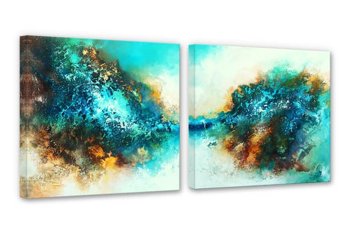Fedrau - In Neptune's Kingdom Canvas print (2 parts)