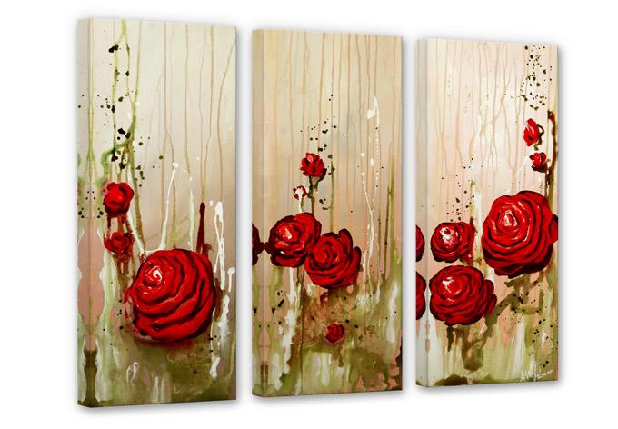 Fedrau - Roses (3-parts) Canvas print