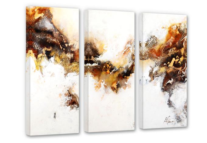 Fedrau - Liquid Gold 03 Canvas print (3 parts)