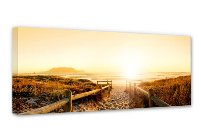 sunset at the beach canvas print wall. Black Bedroom Furniture Sets. Home Design Ideas
