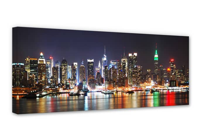 leinwandbild new york skyline panorama wall. Black Bedroom Furniture Sets. Home Design Ideas