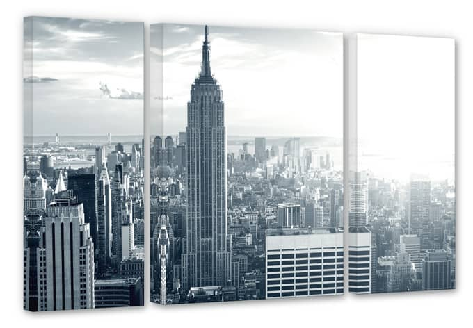 The Empire State Building (3 parts) Canvas print