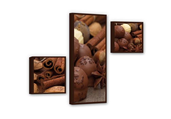 Chocolate Dream 02 Canvas print (3 parts)