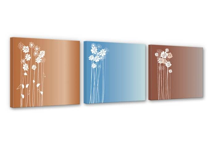 Flowers Triptych Canvas print