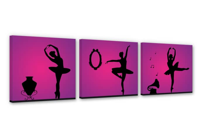 leinwanddruck t nzerinnen wandbild set mit ballerinas wall. Black Bedroom Furniture Sets. Home Design Ideas