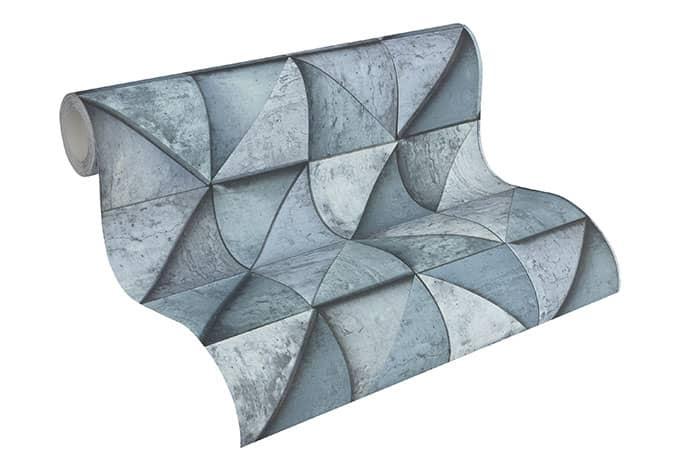 livingwalls steinoptik tapete daniel hechter 4 306503 blau wall. Black Bedroom Furniture Sets. Home Design Ideas