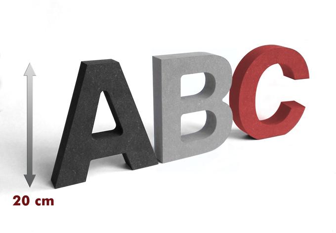 lettere in legno mdf : Lettere in legno MDF - Lettere alte 20 cm wall-art.it