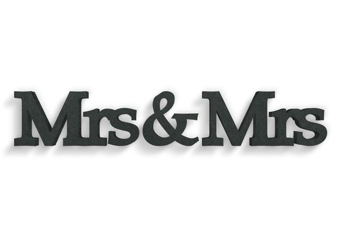 lettere in legno mdf : Lettere in legno MDF Mrs&Mrs Serife wall-art.it
