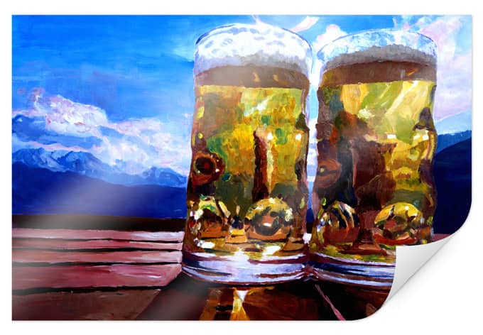 Poster Bleichner - two beers in the mountains