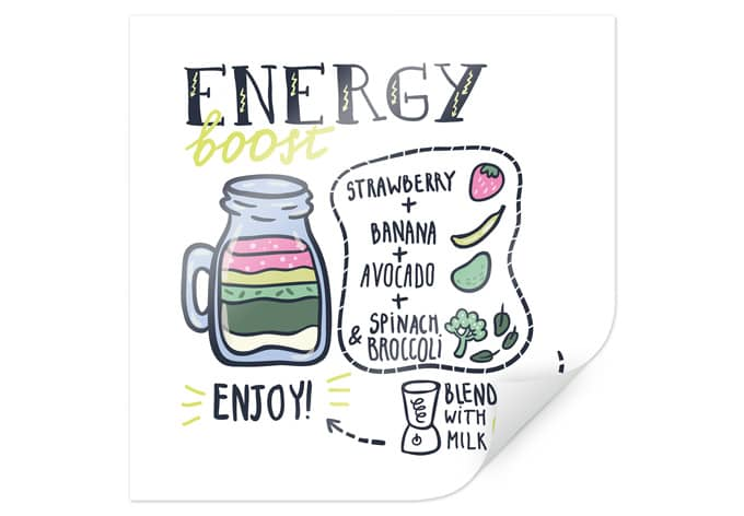 Poster Energy Boost - square