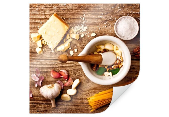 Poster Laércio - pesto recipe - square