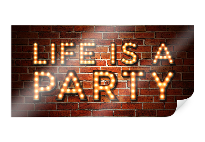 Poster Life is a Party 02 - Panorama