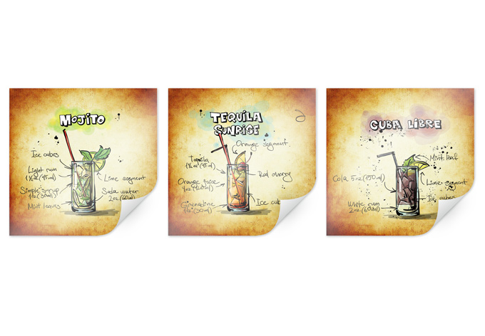 Poster long drinks set 01 (3 parts)