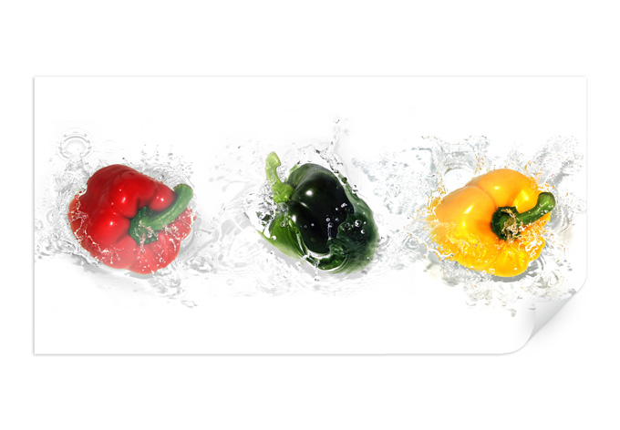 Poster Splashing Paprika