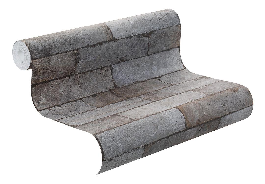 rasch vliestapete factory ii mauer 446333 grau wall. Black Bedroom Furniture Sets. Home Design Ideas
