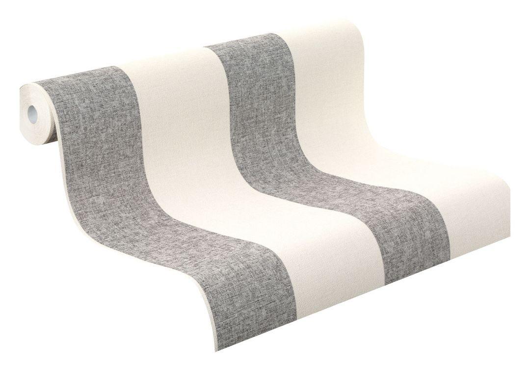 rasch vliestapete florentine streifen 448764 grau wall. Black Bedroom Furniture Sets. Home Design Ideas