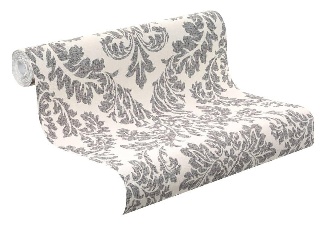 rasch vliestapete florentine muster 449099 grau wall. Black Bedroom Furniture Sets. Home Design Ideas
