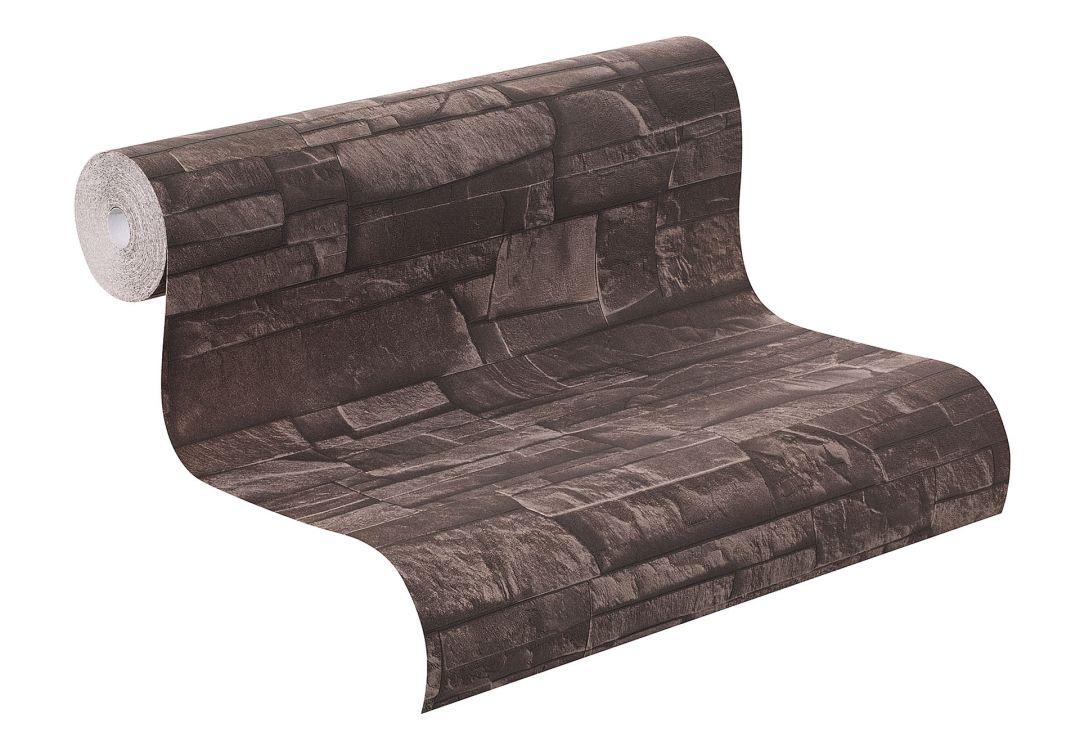 rasch vliestapete factory ii mauer 475012 schwarz wall. Black Bedroom Furniture Sets. Home Design Ideas