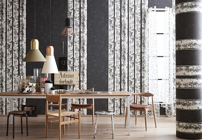 sch ner wohnen vliestapete schiefergrau schwarzgrau. Black Bedroom Furniture Sets. Home Design Ideas