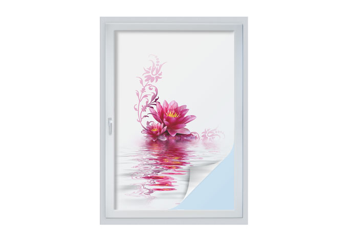 Pellicola adesiva per vetri incantesimo floreale wall for Pellicola adesiva per vetri ikea
