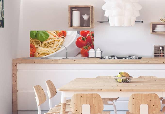 k chenr ckwand alu dibond pasta italiano wall. Black Bedroom Furniture Sets. Home Design Ideas