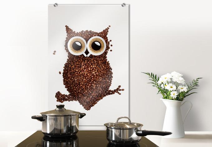 spritzschutz kaffeeeule wall. Black Bedroom Furniture Sets. Home Design Ideas