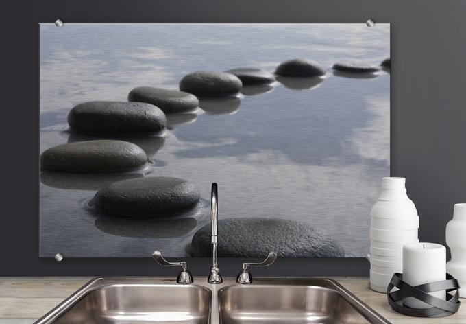 spritzschutz steinpfad wall. Black Bedroom Furniture Sets. Home Design Ideas