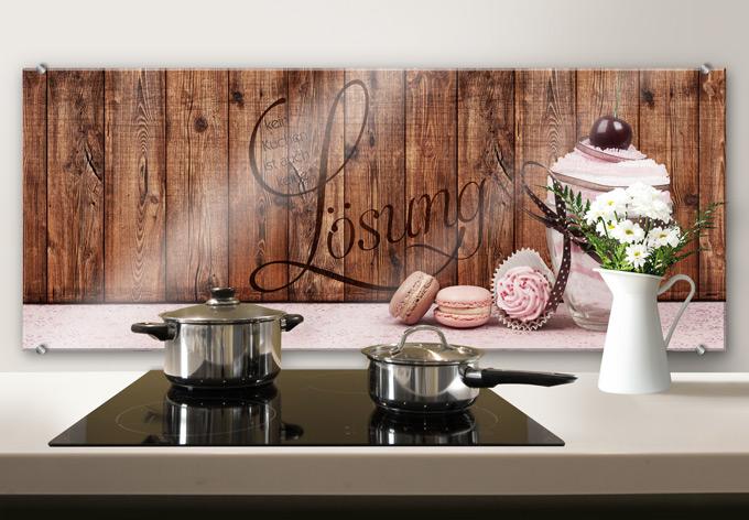 spritzschutz kein kuchen ist auch keine l sung panorama. Black Bedroom Furniture Sets. Home Design Ideas