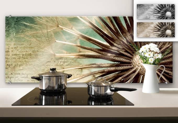 spritzschutz pusteblumen poesie panorama wall. Black Bedroom Furniture Sets. Home Design Ideas