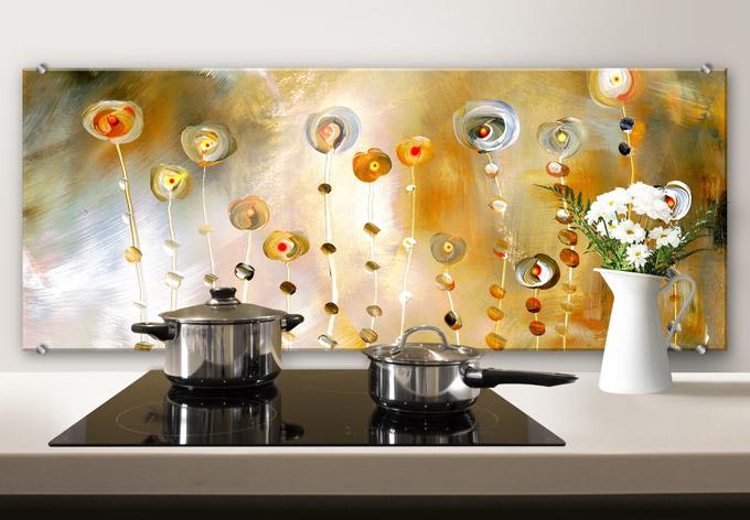 Spritzschutz niksic golden eye panorama wall for Paraschizzi cucina plexiglass